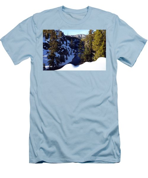 Yellowstone In Winter Men's T-Shirt (Slim Fit) by C Sitton