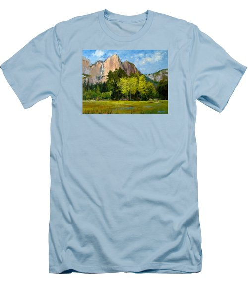 Yosemite - Ribbon Falls Men's T-Shirt (Athletic Fit)