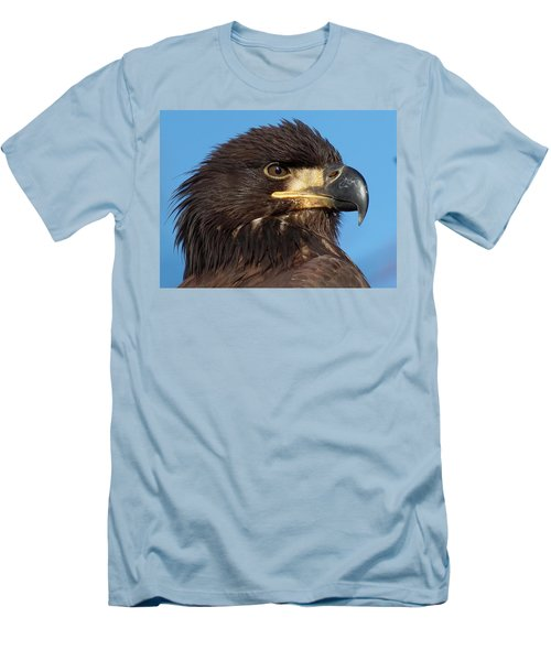 Young Eagle Head Men's T-Shirt (Slim Fit) by Sheldon Bilsker