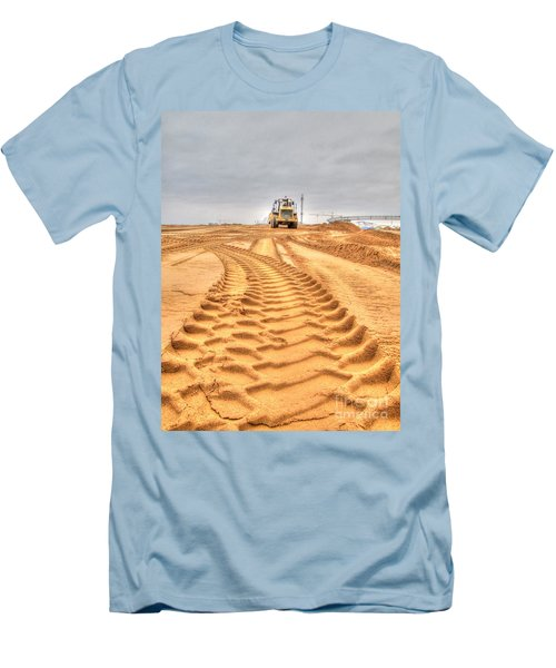 Yury Bashkin The Road On The Construction Men's T-Shirt (Slim Fit) by Yury Bashkin