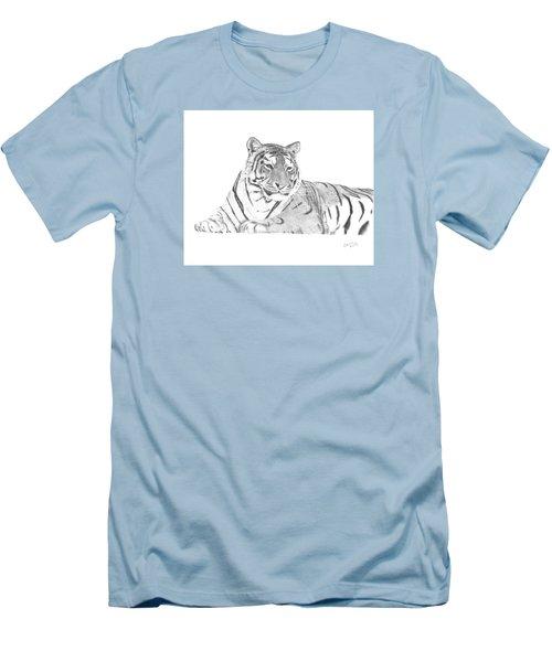 Zarina A Siberian Tiger Men's T-Shirt (Athletic Fit)