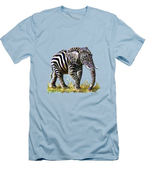 Zebraphant Men's T-Shirt (Slim Fit) by Anthony Mwangi