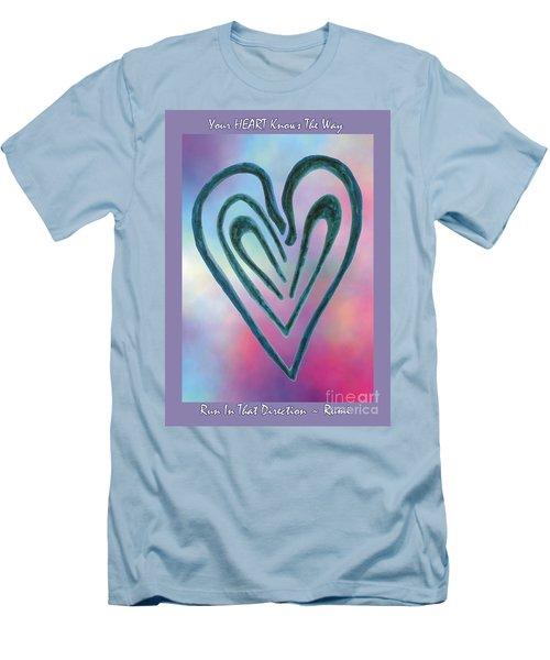 Zen Heart Labyrinth Men's T-Shirt (Athletic Fit)