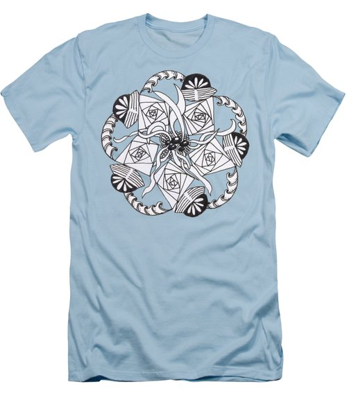 Zendala Seaweed Men's T-Shirt (Slim Fit) by Lori Kingston