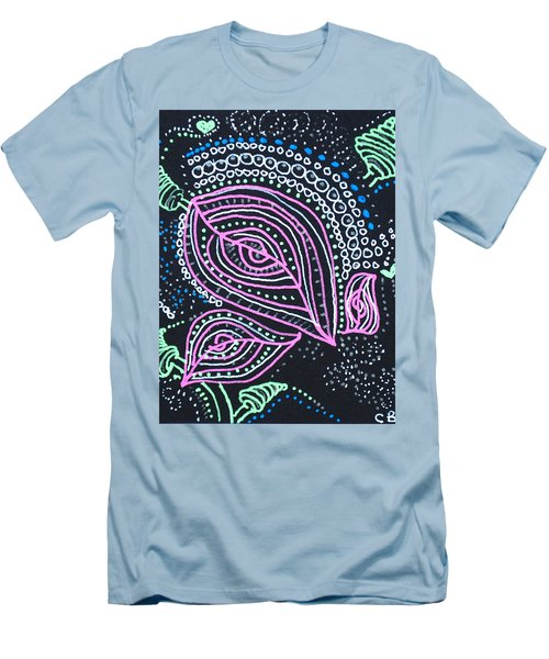 Zentangle Flower Men's T-Shirt (Athletic Fit)