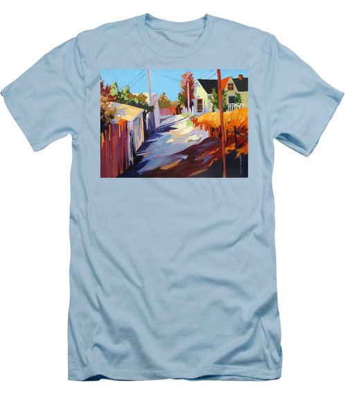 Men's T-Shirt (Slim Fit) featuring the painting Zig Zag Shadows by Rae Andrews