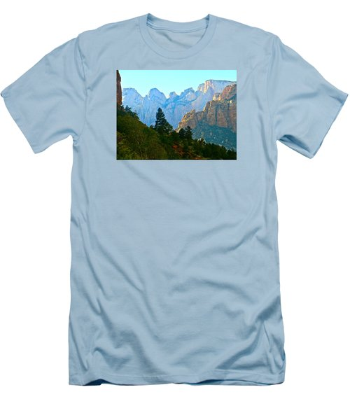Zion's Hint Of Blue Men's T-Shirt (Athletic Fit)