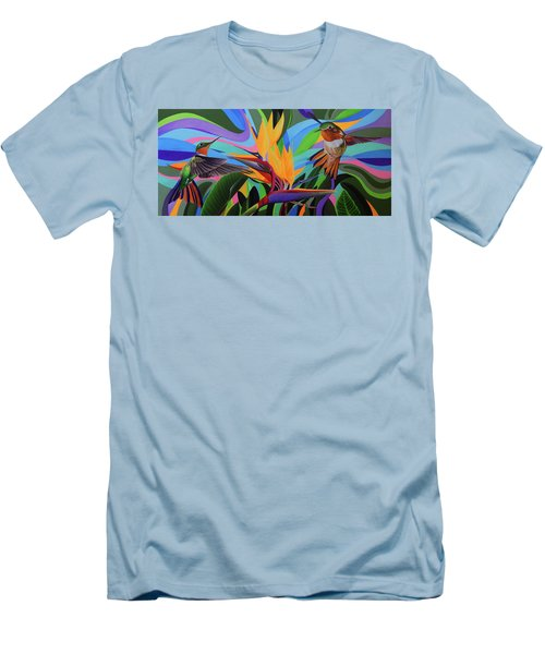 Zumbador Canela Men's T-Shirt (Slim Fit) by Angel Ortiz