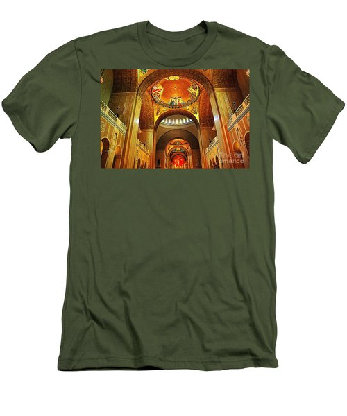 Men's T-Shirt (Slim Fit) featuring the photograph  Basilica Of The National Shrine Of The Immaculate Conception by John S