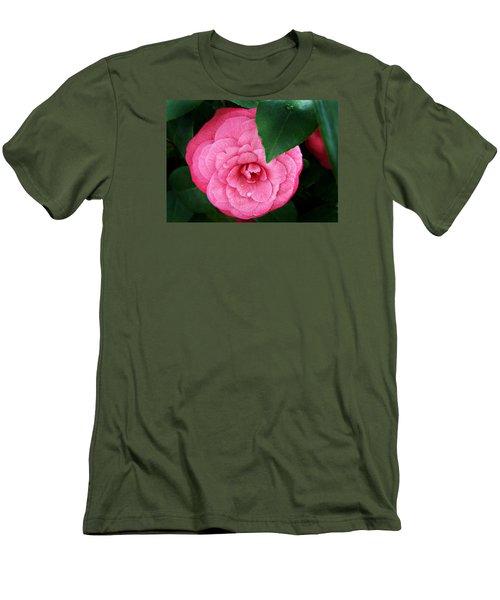 Camellia Japonica ' Elizabeth Weaver ' Men's T-Shirt (Slim Fit)