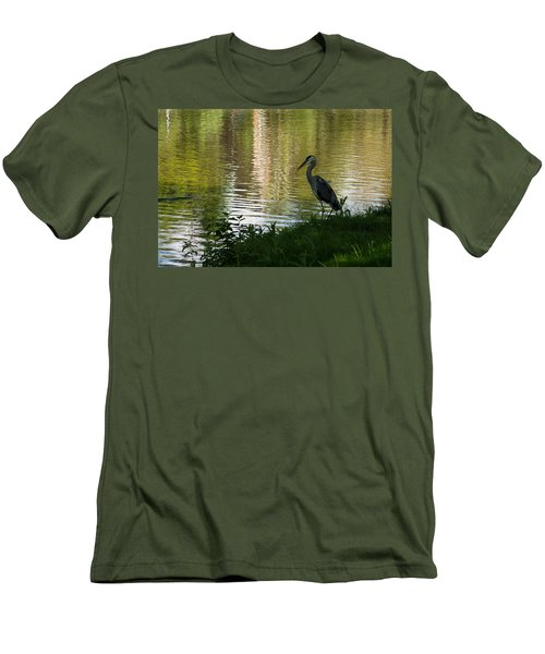 Men's T-Shirt (Slim Fit) featuring the photograph Contemplating Impressionist Paintings by Georgia Mizuleva