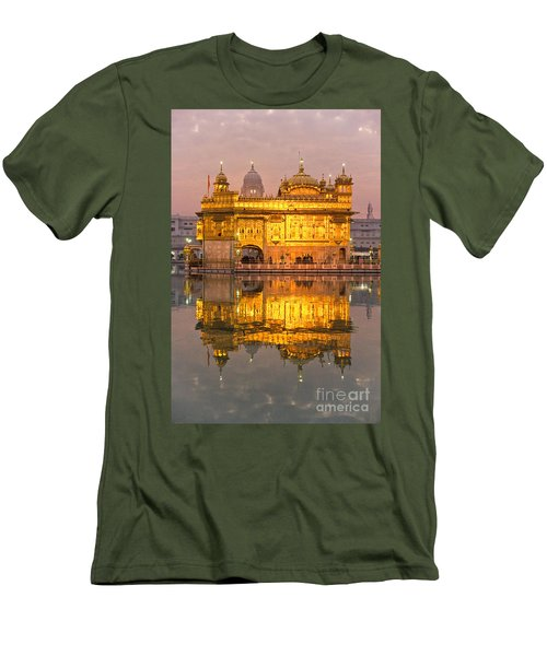 Golden Temple In Amritsar - Punjab - India Men's T-Shirt (Slim Fit) by Luciano Mortula