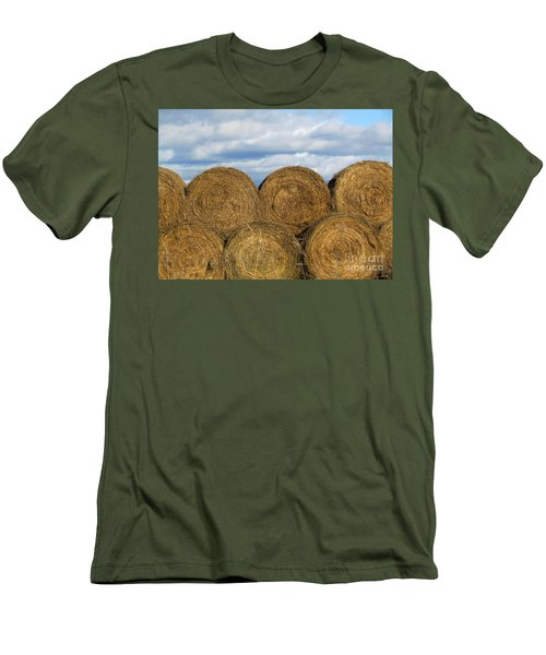 Men's T-Shirt (Slim Fit) featuring the photograph  Hay  by France Laliberte