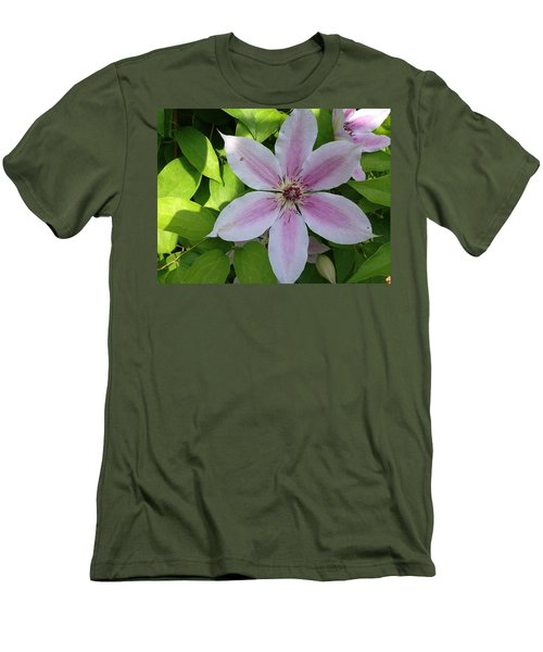 Pink Clematis  Men's T-Shirt (Athletic Fit)