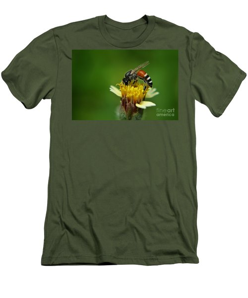 Working Bee Men's T-Shirt (Slim Fit) by Michelle Meenawong