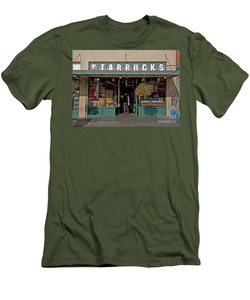 0370 First Starbucks Men's T-Shirt (Athletic Fit)