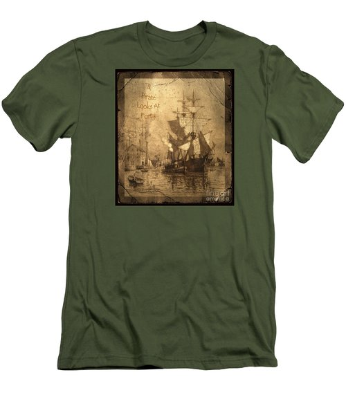 A Pirate Looks At Forty Men's T-Shirt (Slim Fit) by John Stephens