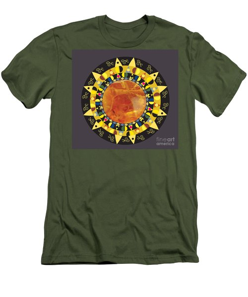 Amber Mandala Men's T-Shirt (Athletic Fit)