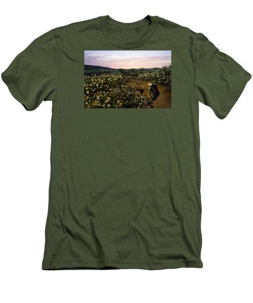 Atlantic Puffin At Burrow Skomer Island Men's T-Shirt (Athletic Fit)