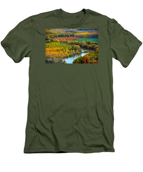 Autumn Colors On The Ebro River Men's T-Shirt (Athletic Fit)