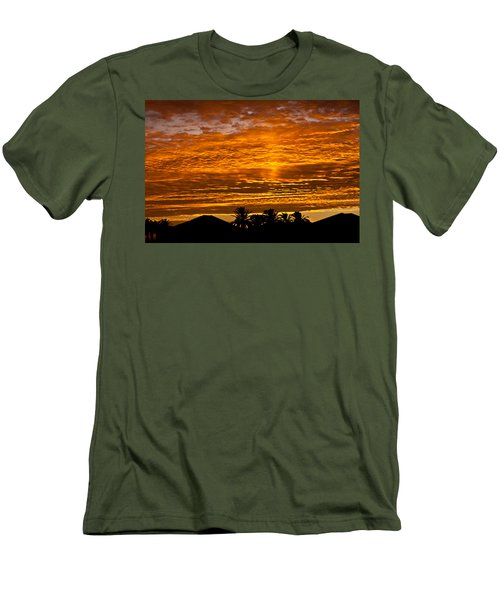 1 Awsome Sunset Men's T-Shirt (Slim Fit) by Brian Williamson