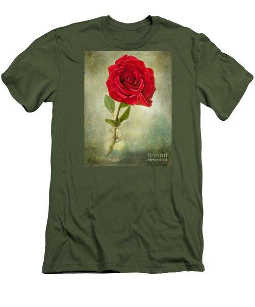 Beautiful Rose Men's T-Shirt (Slim Fit) by Lena Auxier