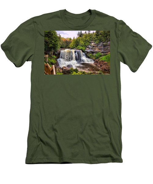 Blackwater Falls Sp Men's T-Shirt (Athletic Fit)
