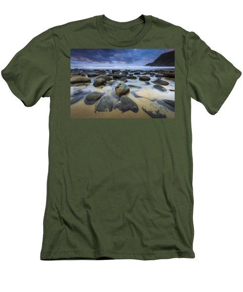 Campelo Beach Galicia Spain Men's T-Shirt (Athletic Fit)