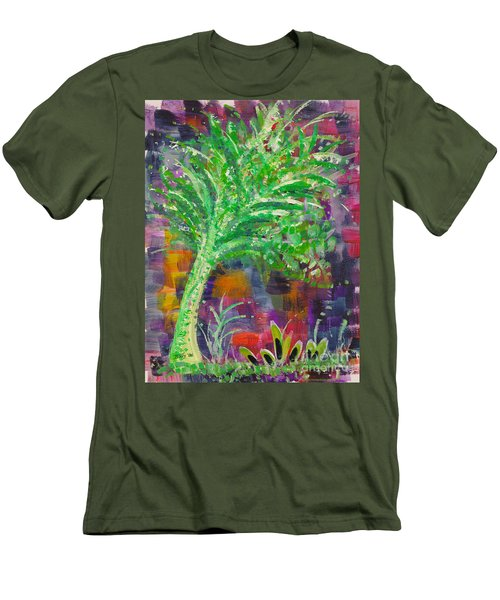 Men's T-Shirt (Slim Fit) featuring the painting Celery Tree by Holly Carmichael