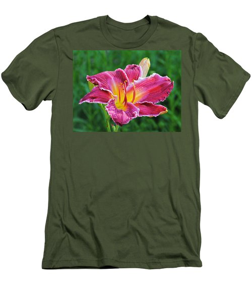 Crimson Day Lily Men's T-Shirt (Athletic Fit)