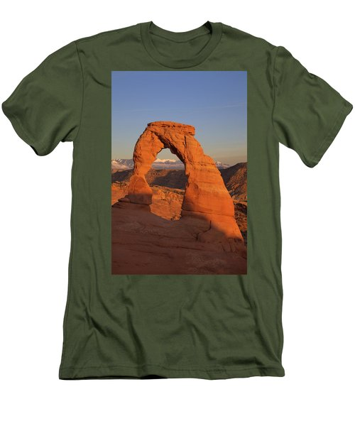 Delicate Arch At Sunset Men's T-Shirt (Athletic Fit)
