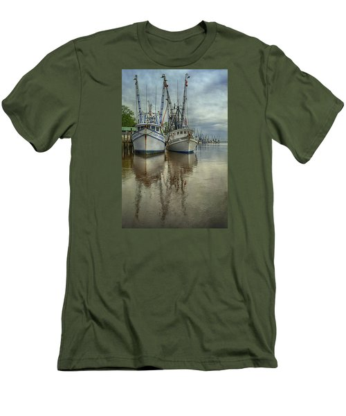 Men's T-Shirt (Slim Fit) featuring the photograph Docked by Priscilla Burgers