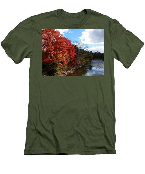 Fall At The Credit River Men's T-Shirt (Slim Fit) by Pema Hou
