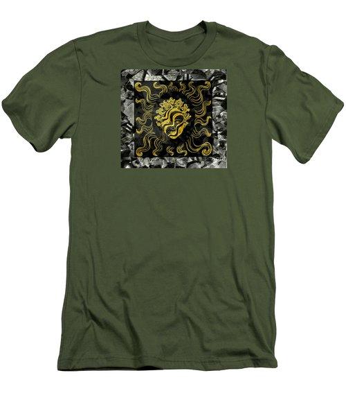 Men's T-Shirt (Slim Fit) featuring the photograph Golden God by Nareeta Martin