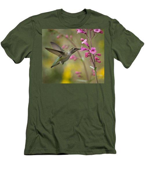 Hummingbird Heaven  Men's T-Shirt (Slim Fit) by Saija  Lehtonen