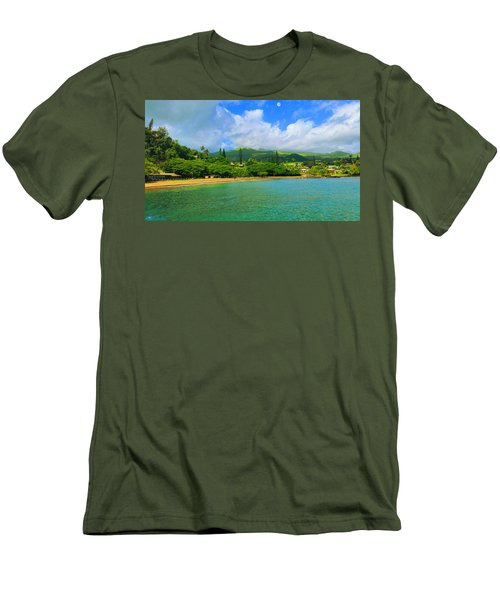 Island Of Maui Men's T-Shirt (Slim Fit) by Michael Rucker