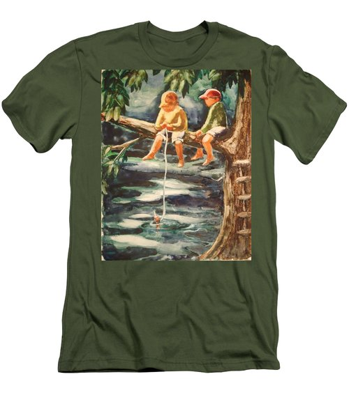 Jes Fishin Men's T-Shirt (Athletic Fit)