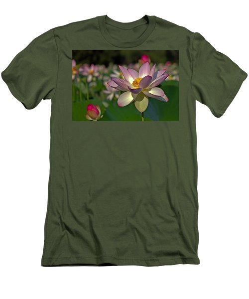 Men's T-Shirt (Slim Fit) featuring the photograph Lotus Flower by Jerry Gammon