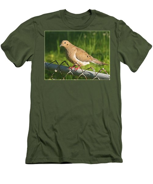 Morning Dove I Men's T-Shirt (Slim Fit) by Debbie Portwood