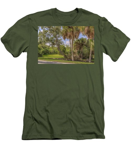 Men's T-Shirt (Slim Fit) featuring the photograph Oak Trees by Jane Luxton