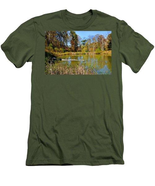 Peaceful Place Men's T-Shirt (Slim Fit) by Kristin Elmquist