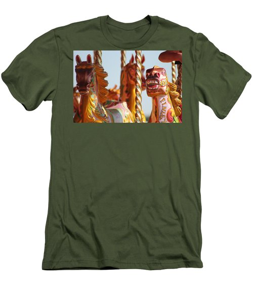 Pretty Carousel Horses Men's T-Shirt (Athletic Fit)