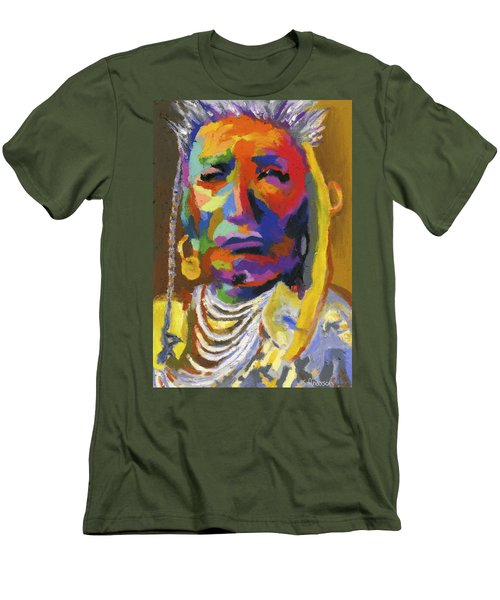 Proud Native American II Men's T-Shirt (Slim Fit) by Stephen Anderson