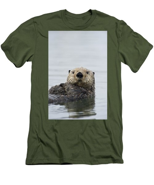 Sea Otter Alaska Men's T-Shirt (Slim Fit) by Michael Quinton