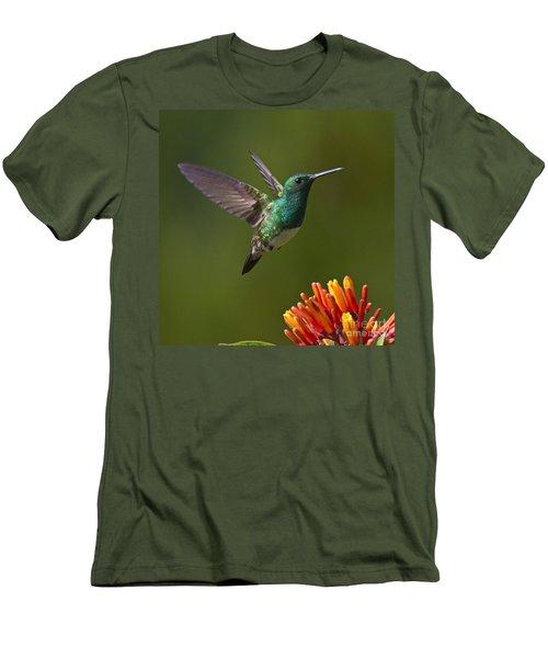 Snowy-bellied Hummingbird Men's T-Shirt (Slim Fit) by Heiko Koehrer-Wagner