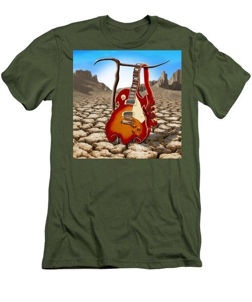 Soft Guitar II Men's T-Shirt (Slim Fit) by Mike McGlothlen