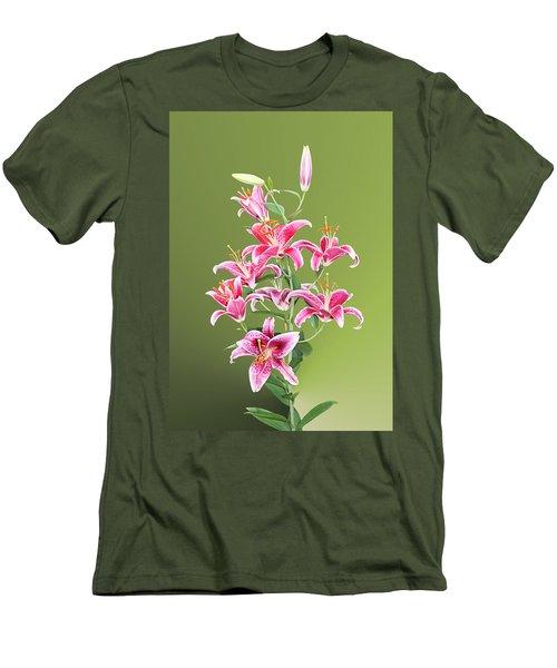 Stargazer Lilies Men's T-Shirt (Slim Fit) by Kristin Elmquist