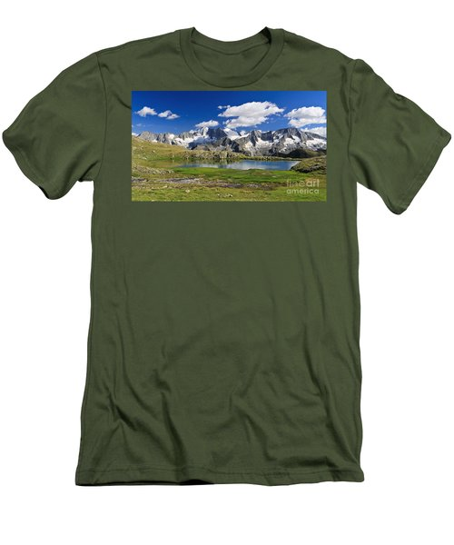 Men's T-Shirt (Slim Fit) featuring the photograph Strino Lake - Italy by Antonio Scarpi