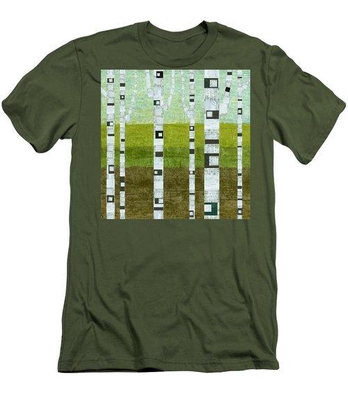 Summer Birches  Men's T-Shirt (Athletic Fit)
