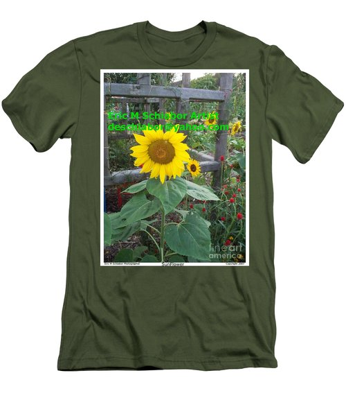 Sunflower Men's T-Shirt (Slim Fit) by Eric  Schiabor
